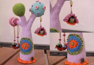 Вязаное дерево и процессы | Juliks needlework