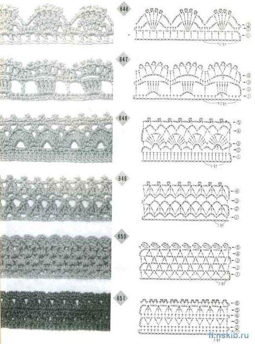 339 Best Borten Und Bnder Images On Pinterest Crochet Edgings