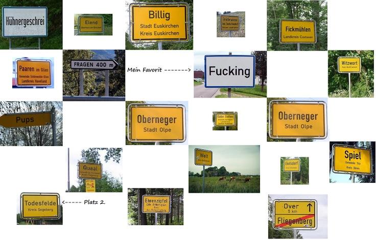 Geile Ortsnamen