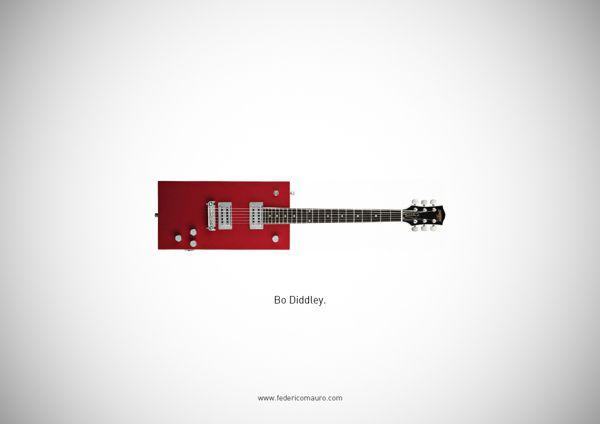 Famous Guitars by Federico Mauro, via Behance