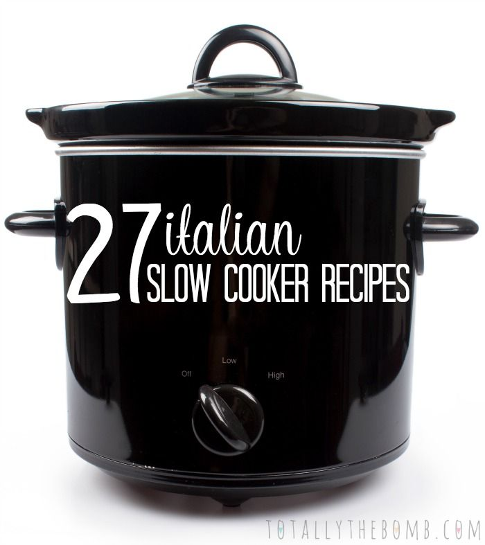 I love Italian food and I love my crock pot. So, I married them in this 27 Italian Slow Cooker Recipes for those of you, like me, that enjoy variety.