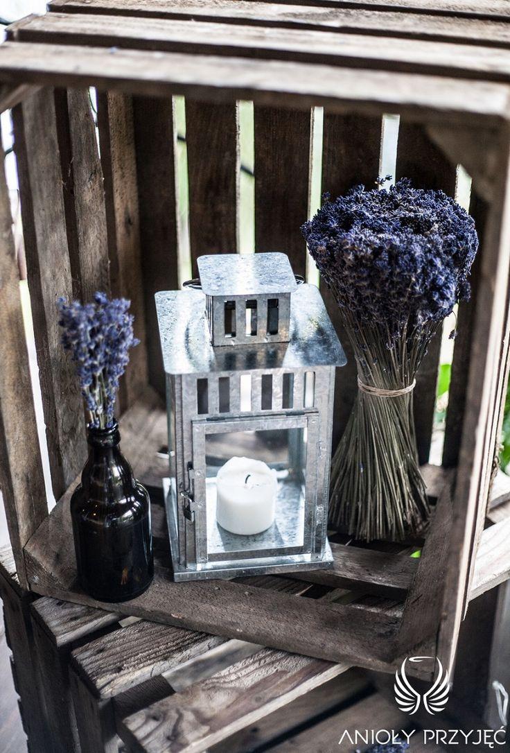 12. Lavender Wedding,Rustic decor,Wooden case,Lavender / Wesele lawendowe,Rustykalne dekoracje,Lawenda,Anioły Przyjęć
