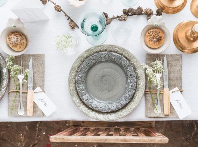 Deco table automne marque place