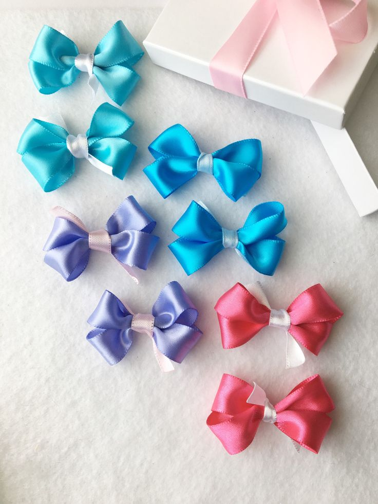 Mini Hair Clips, Small Hair Bows, Baby Bows, Hair Bow Set, Pink Bows, Purple Bows, Blue Bows, Toddler Hair Bows, Girls Hair Bow, Hair Bows by BradleyAccessories on Etsy https://www.etsy.com/listing/556220801/mini-hair-clips-small-hair-bows-baby