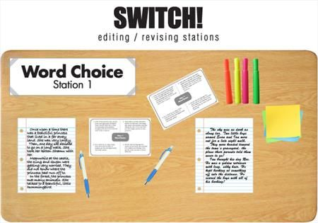 "Switch! Have students move through a series of revising and editing Stations.  Love this!   From ""5 Peer-Revision and Peer-Editing Strategies For Writing Workshop"""