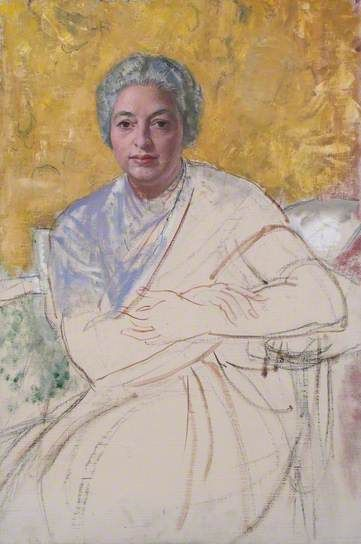 Laura Knight 1877–1970: Unfinished Portrait Vijayalakshmi Pandit, 1970