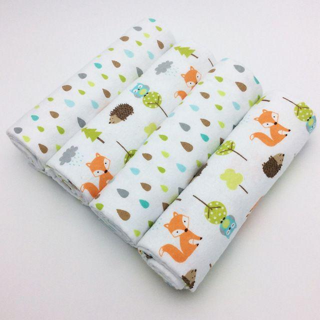 O envio gratuito de 4 Unidades/pacote 100% algodão supersoft flanela receber cobertor do bebê swaddle bebê lençol 76*76 CM cobertores do bebê recém nascidos em Blanket & Panos de Mãe & Kids no AliExpress.com | Alibaba Group