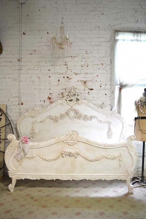 Painted Cottage Shabby Chic French Romantic Bed Queen / King BD728 ...
