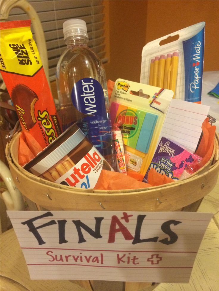Finals Week: Finals survival kit. Energy zone: water, tea, bananas, rice cakes & Peanut butter, Chocolate Candies. (Stay Hydrated and Carb Load, Your Brain Will Thank you!)
