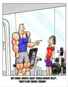 Funny fitness pictures- curls