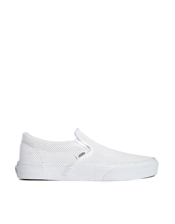 Perforated leather Vans