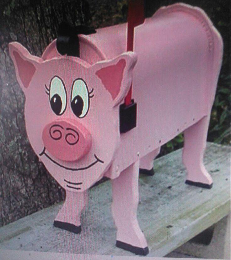 PINK PIG MAILBOX CUSTOM SWINE ANIMAL MAILBOXES PIGS HOG HOGS POSTAL MAIL BOX