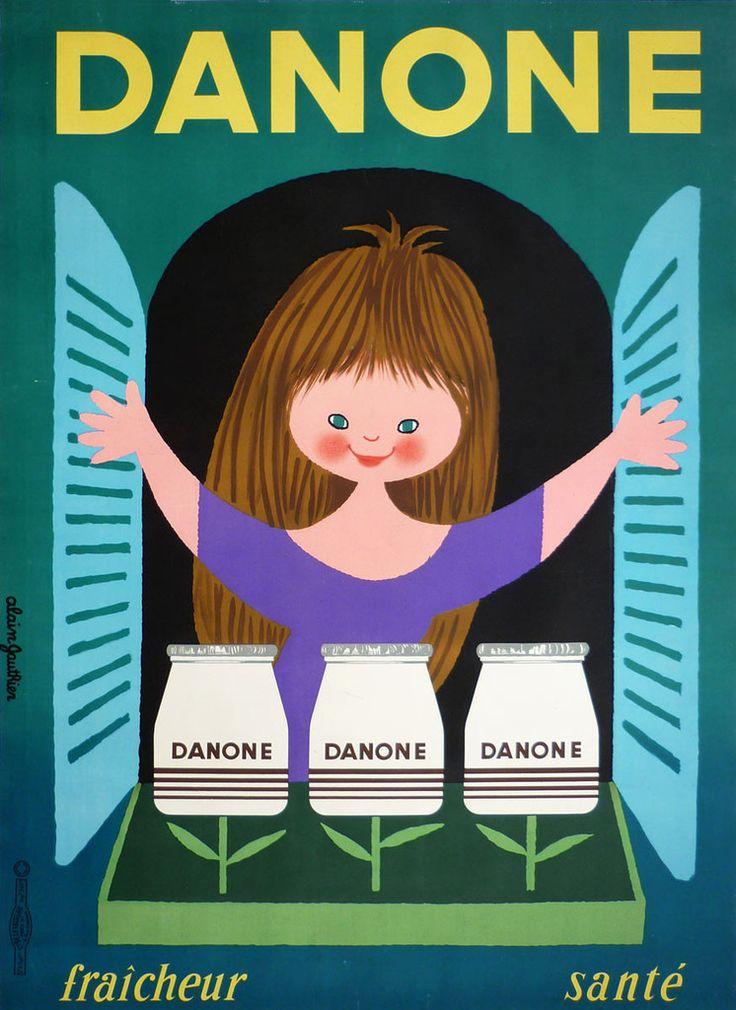 Danone - 1960 - illustration de Alain gauthier -