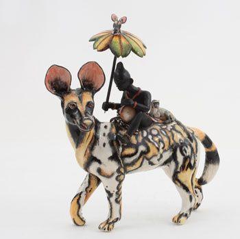Ardmore Ceramics:   Wilddog Rider AAA