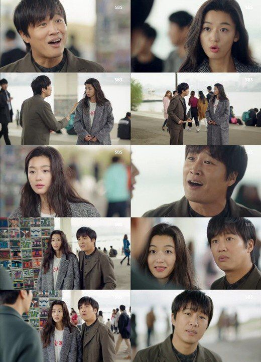 'My Sassy Girl' couple, Jun Ji Hyun and Cha Tae Hyun, reunited on 'The Legend of the Blue Sea'!    On the November 24 airing of the SBS drama, Cha Tae Hyun made a special cameo appearance as a con-artist who tries to pull one over on Jun Ji Hyun, a clueless mermaid who is trying to adjust to life above water.
