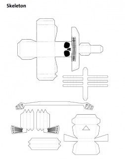 Best 25 skeleton template ideas on pinterest skeleton for Q tip skeleton craft template