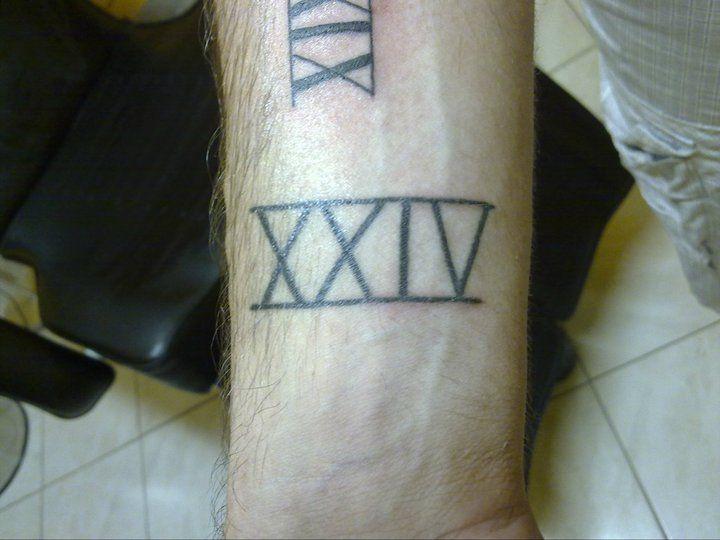 Tattoo tatouage lettrage chiffre romain poignet - Tatouage chiffre romain poignet ...