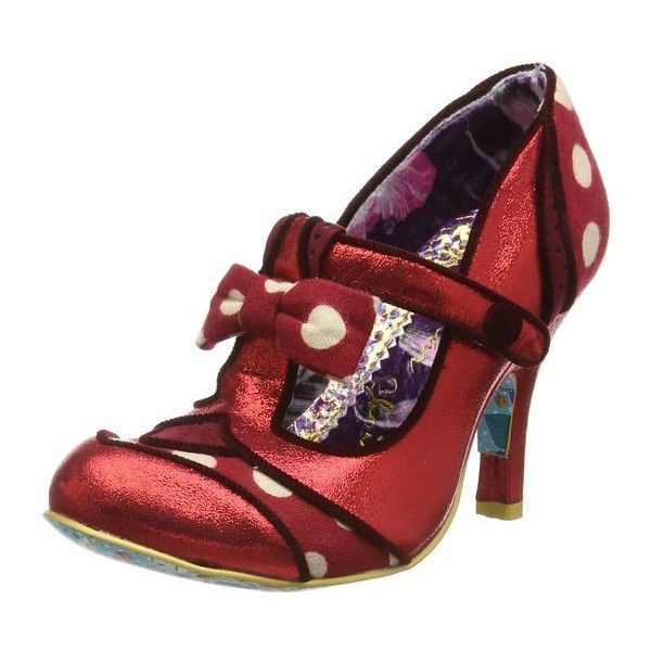 Irregular Choice Dotty Lotty, Women's T-Bar Pumps ($76) ❤ liked on Polyvore featuring shoes, pumps, polka dot pumps, polka dot shoes, irregular choice shoes, t strap pumps and irregular choice