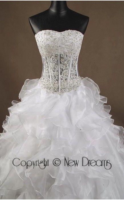 abito da sposa V3002-details of wedding dress style V3002