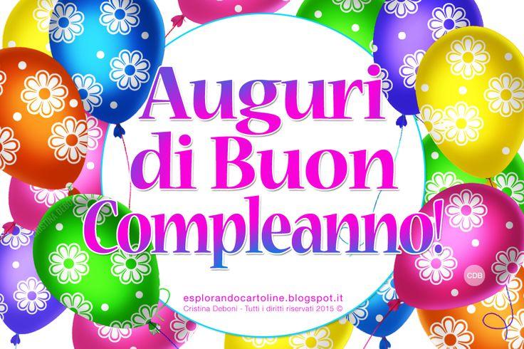 CDB CARTOLINE Compleanno per Tutti i Gusti! : Cartolina Auguri di BUON COMPLEANNO! Con Tanti Pal...
