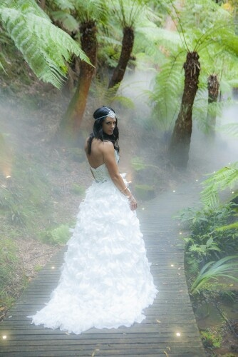 Wedding photos at the National botanic Gardens canberra