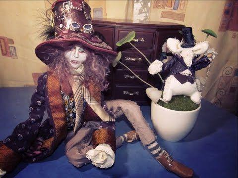 Авторская каркасная кукла Безумный Шляпник, что делать с неудачами, выкинуть жалко. - YouTube