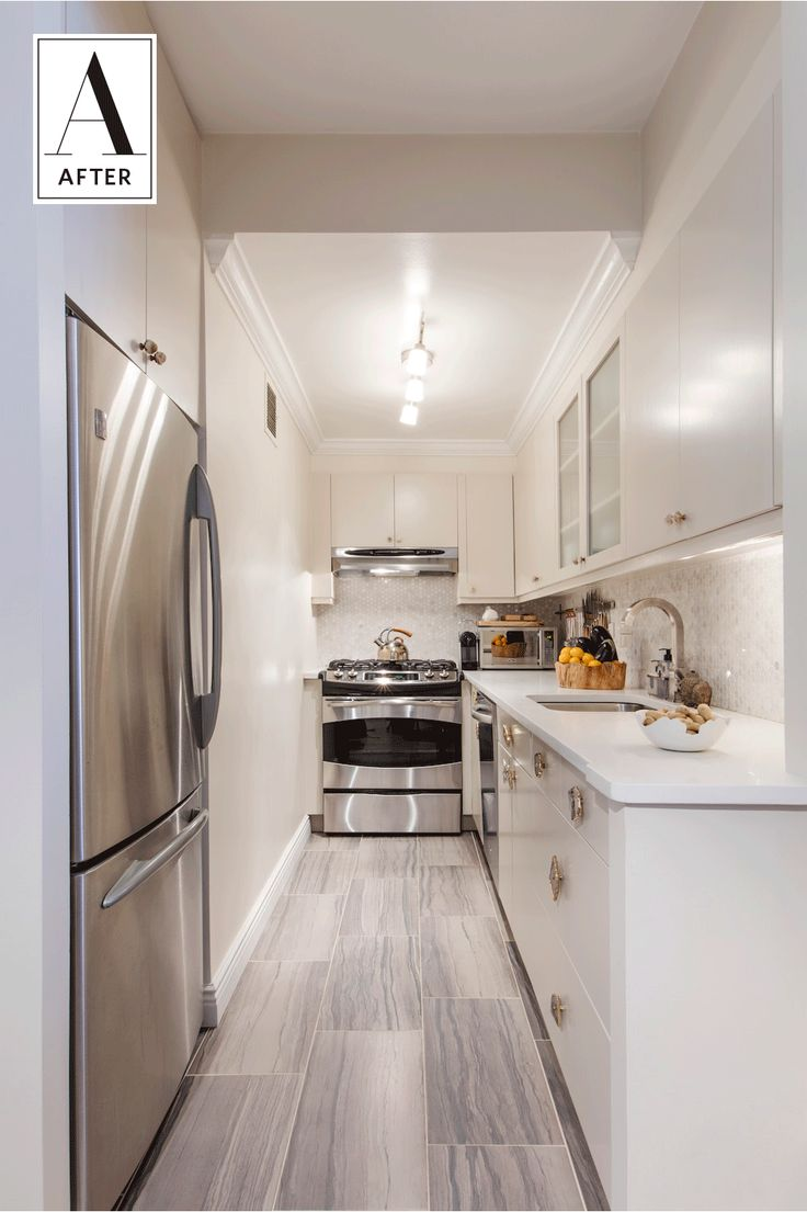 Before & After: A Narrow NYC Kitchen Lightens Up