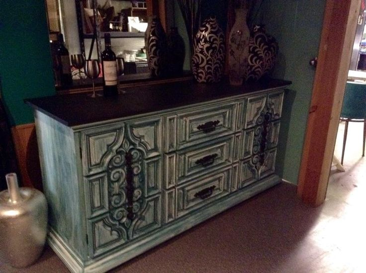 Dresser Makeover With Superior Paint Co. Black Mountain.