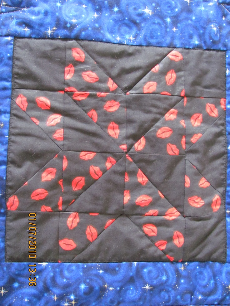 Memory Quilt Block -  Lips   $50.    Plus Handling and Shipping.     marilynpearson2@gmail.com