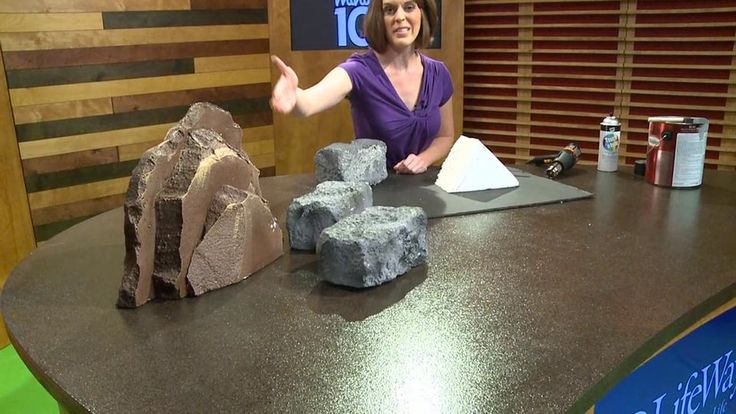 how to make fake rocks using expandable spray foam
