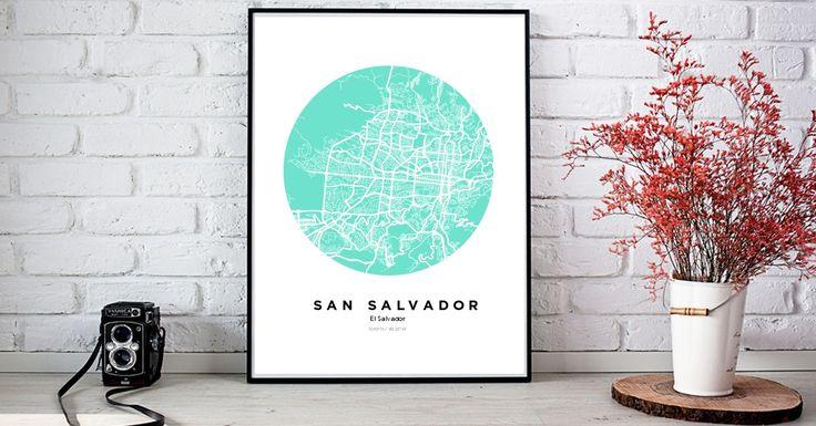 SanSalvador | Custom Map Maker – Make Your Own Map Poster Online - YourOwnMaps