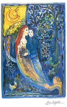 chagall prints | Wedding - Marc Chagall, giclee print