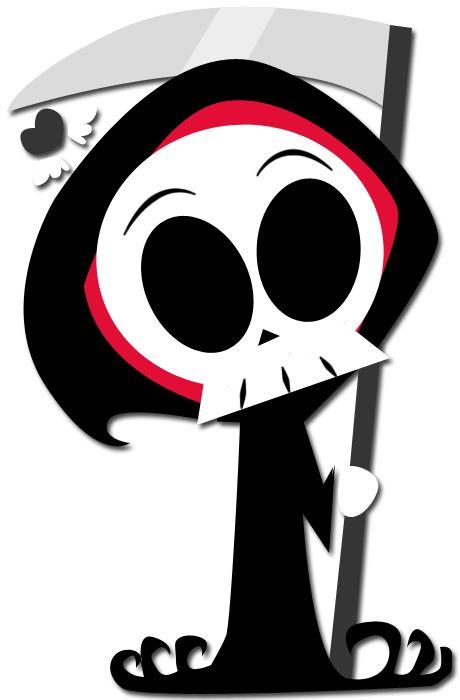 Chibi-fied Grim Reaper by enigmatia on deviantART