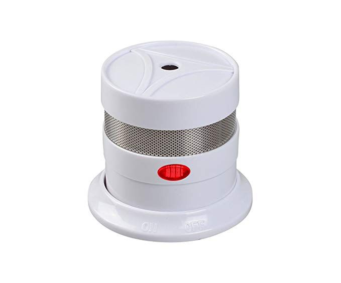 10 Year Battery Operated Mini Smoke Detector Fire Alarm With Photoelectric Sensor Travel Portable Lithium Micro Photoelectric Sensor Fire Alarm Smoke Alarms