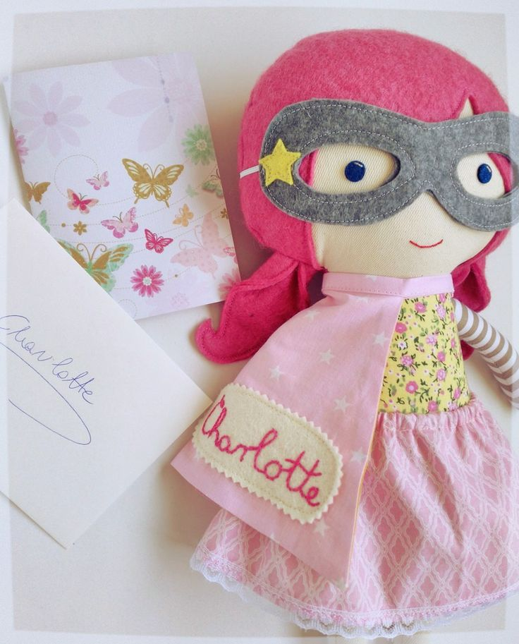 Special doll for Superhero Charlotte. We are all with you girl! #littlewarriors #lalobastudio #superhero #dollsanddaydreams