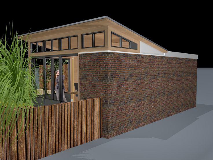 Backyard office / verbouwde schuur