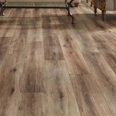 "Mannington Restoration Wide Plank 8"" x 51"" x 12mm Laminate in Brushed Coffee"