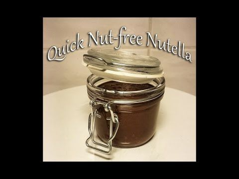 Homemade, super easy and quick Nutella - without nuts!