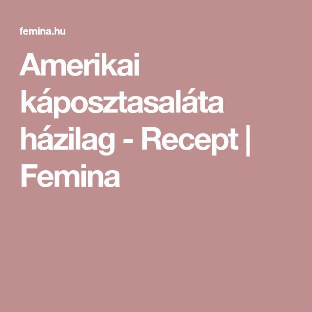 Amerikai káposztasaláta házilag - Recept | Femina