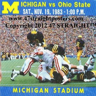 1983 Ohio State vs. Michigan Football Ticket Coasters™    Michigan football gifts. http://www.michiganfootballgifts.com/ Michigan football gift ideas. #47straight #Christmasgifts #gifts