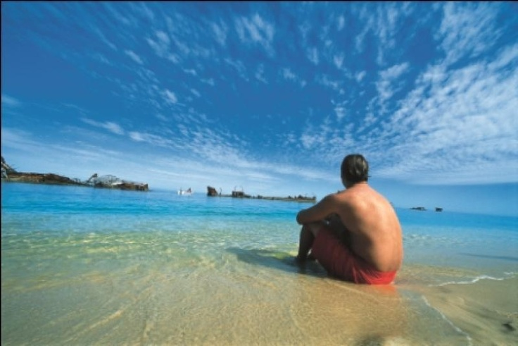Beautiful beaches of Moreton Island, a pretty spectacular place to enjoy a Monday morning.