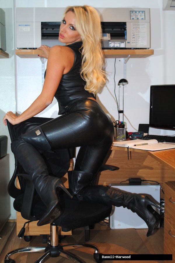 Leather boot porn