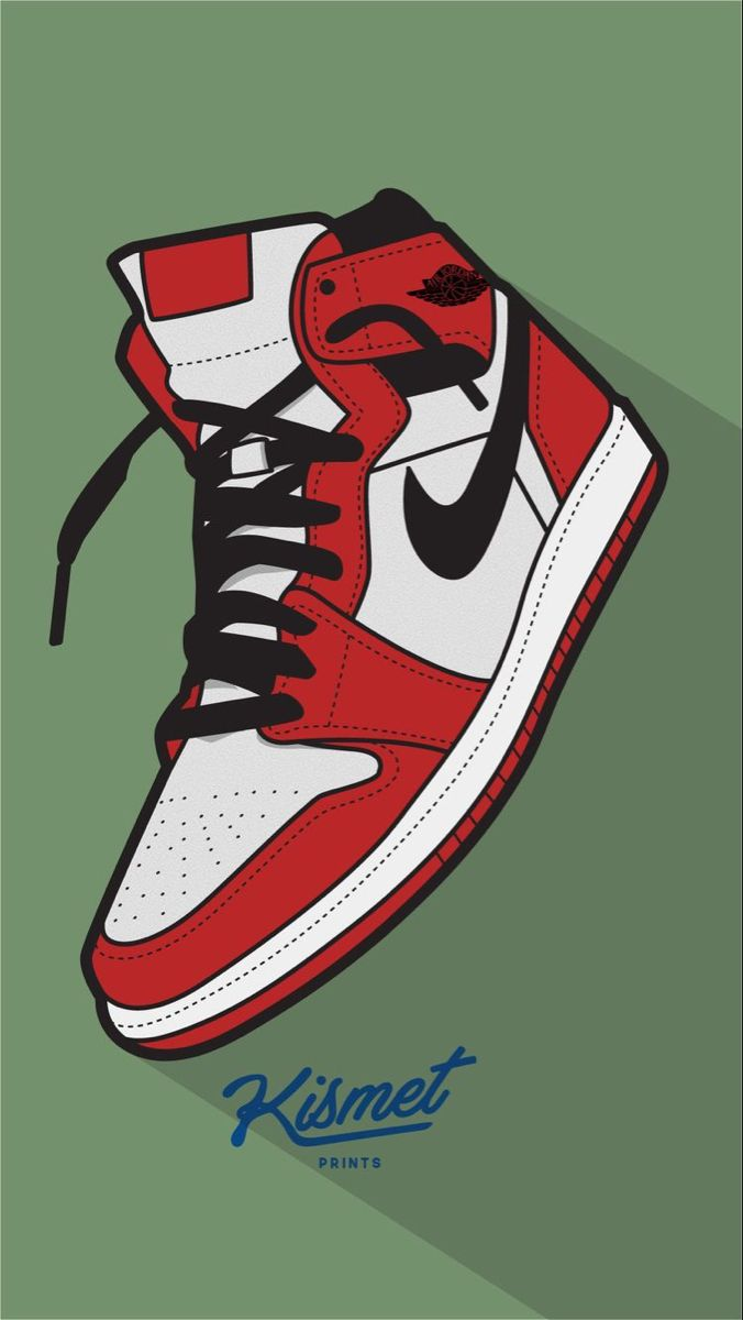 Aj1 Chicago Style Sneakers Drawing Sneakers Illustration Sneaker Art