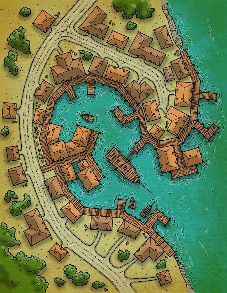 Fantasy City Map, Fantasy World Map, Tabletop Rpg Maps