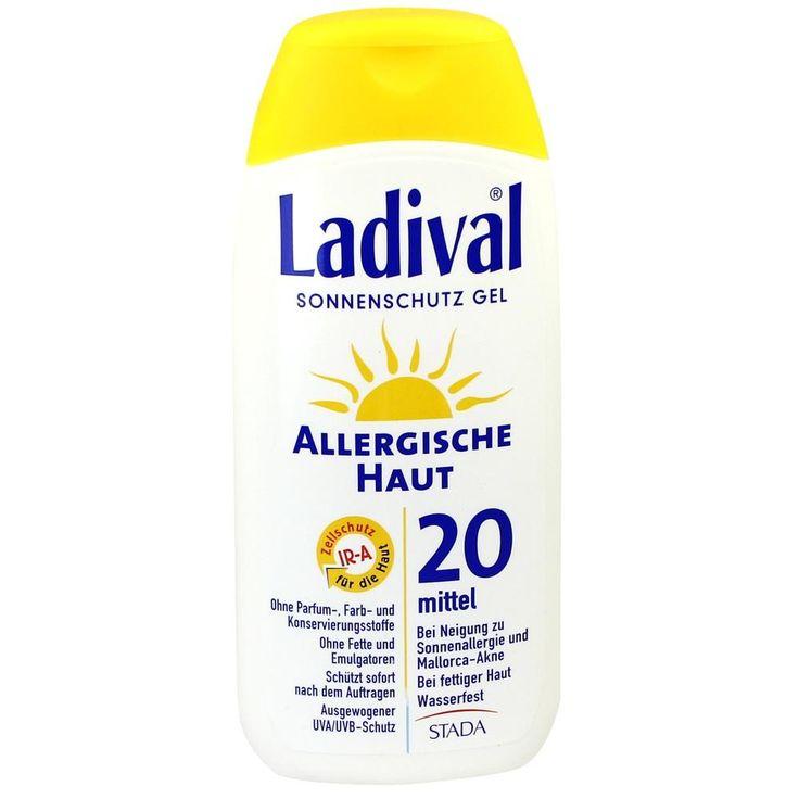 LADIVAL allergische Haut Gel LSF 20:   Packungsinhalt: 200 ml Gel PZN: 03373463 Hersteller: STADA GmbH Preis: 12,60 EUR inkl. 19 % MwSt.…