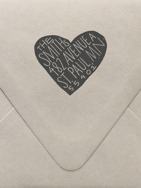 Scandi Heart Custom Stamp | Sycamore Street Press
