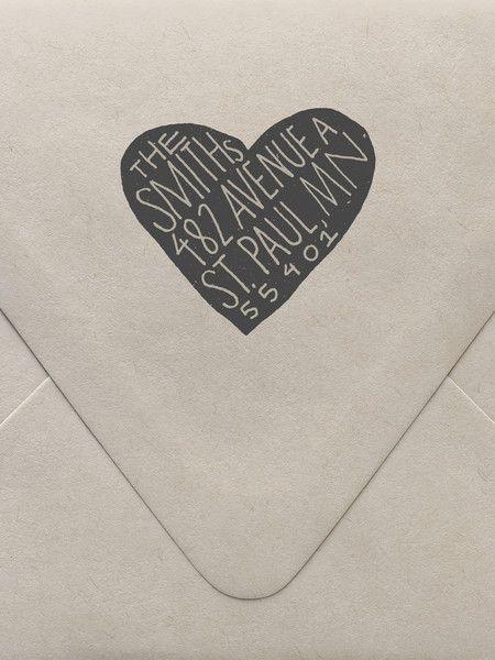 Scandi Heart Custom Stamp | Sycamore Street Press