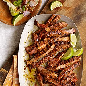 Chile-Marinated Skirt Steak (Carne Asada en Adobo de Guajillo): Food ...