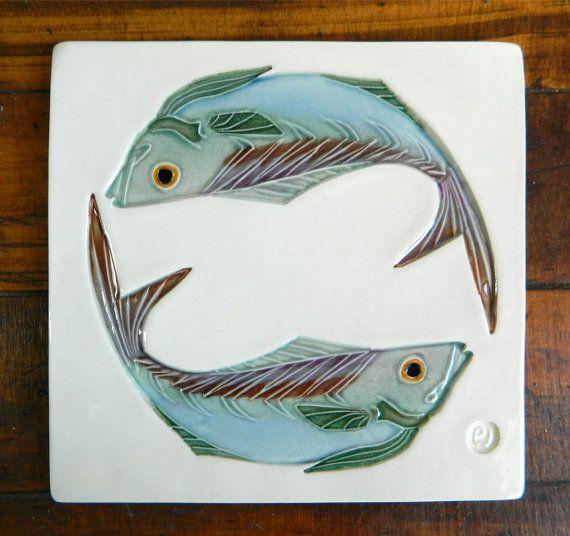 21 best PWT ceramic tiles : fish @Etsy images on Pinterest ...