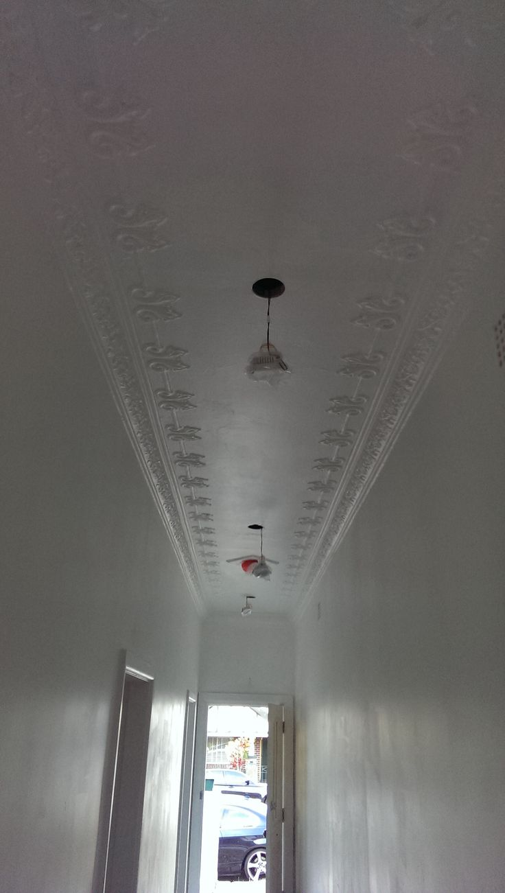 original ceilings restored... with serious pain
